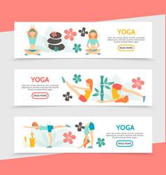 flat yoga horizontal banners vector image