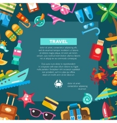 Flyer of modern flat design seaside travel vector image
