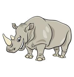 funny rhinoceros animal cartoon character vector image
