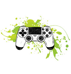 Gamepad for game consolethe joystick vector