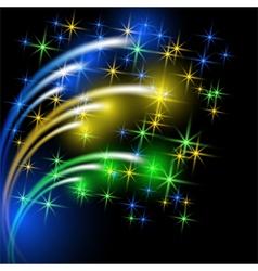 Glowing multicolor salute vector