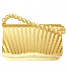 golden handbag vector image