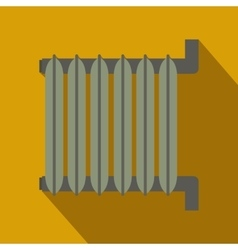 Gray radiator flat design vector