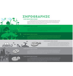 green city infographic set with charts vector image