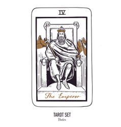 hand drawn tarot card deck major arcana vector image