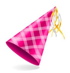 Happy birthday cap with ribbon stock vector