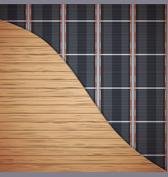 Infrared underfloor heating system vector
