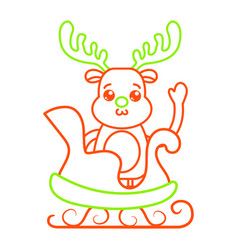 Isolated reindeer design vector