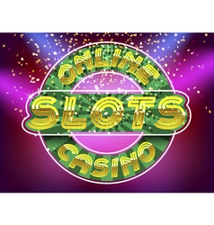 Jackpot casino slots vector image