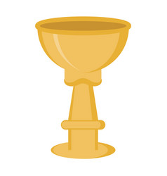 jewish golden wine cup icon vector image