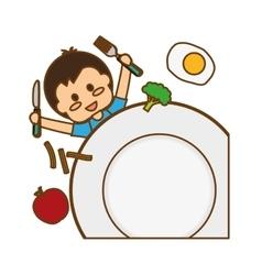 kids food nutrition vector image