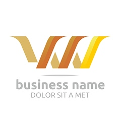 letter v combination w lettemark design vector image
