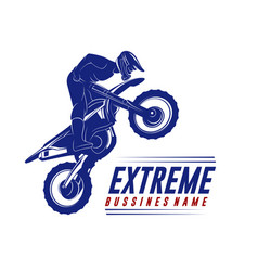 Motocross jump logo motocross freestyle vector