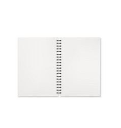notebook open view template office notepad vector image