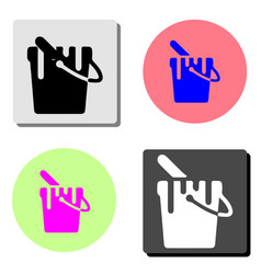paint bucket flat icon vector image