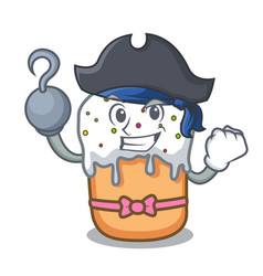 Pirate easter cake character cartoon vector