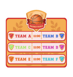Placard on the basketball courtbasketball single vector