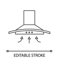 Range hood linear icon vector