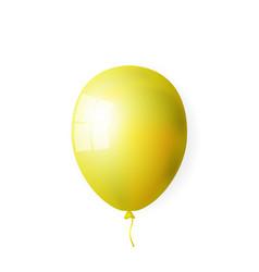 realistic yellow balloon vector image