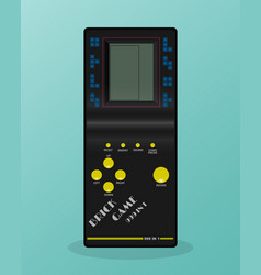 Retro tetris electronic game vintage style pocket vector