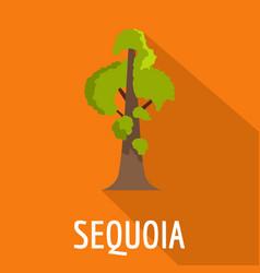 Sequoia icon flat style vector