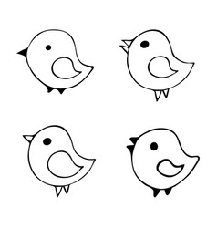 Set 4 cartoon vector