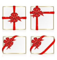 set from greeting cards vector image