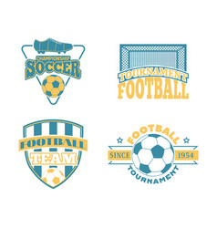 Soccer badge set vector