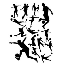 soccer player detail silhouette vector image