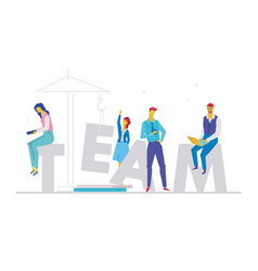 Team - flat design style colorful vector