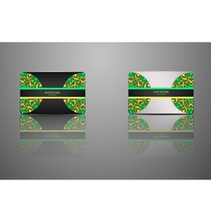 Template Gift card credit card business card vector