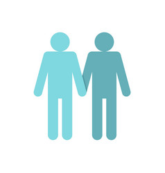 two men gay icon flat style vector image