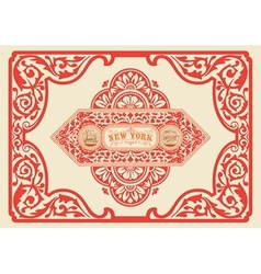 Vintage label organized by layers vector image
