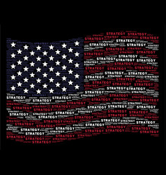 Waving united states flag stylization of strategy vector