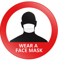 wear a face mask sign vector image