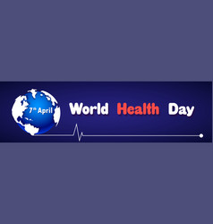 world health day greeting card earth and vector image