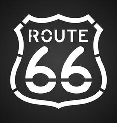 Asphalt Route 66 Paint vector image