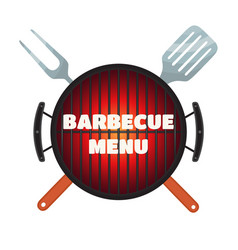 Barbecue menu flyer invitation banner flat style vector