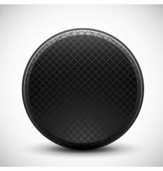 Dark circle made of metal grid design vector image