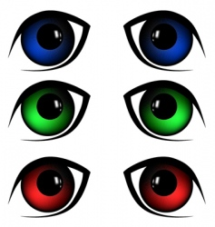 eyes illustration vector image vector image