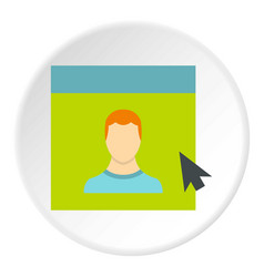 male avatar in website icon circle vector image vector image
