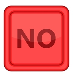 No red square label icon cartoon style vector