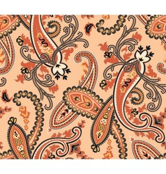 Seamless paisley background beige colors vector