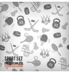 sports seamless background Sports equipment vector image vector image