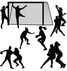 handball woman player vector image