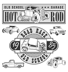 hot rod set vector image