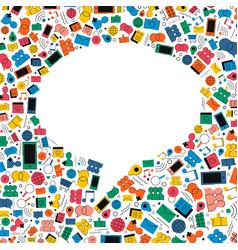 social media chat bubble icon concept design vector image