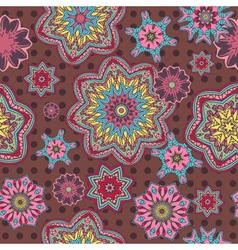 Arabesque floral pattern background vector image vector image