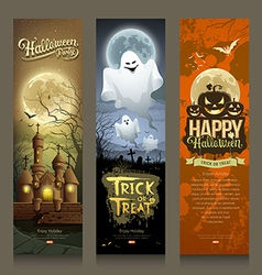 Happy Halloween day collections banner vertical vector image vector image