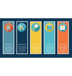 INFOGRAPHICS design flat elements with long vector image